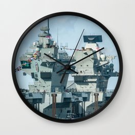 AIRCRAFT CARRIER VISITING LIVERPOOL Wall Clock