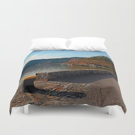 Sunny afternoon at the harbour | landscape photography Duvet Cover