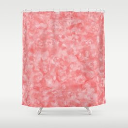 Strawberry Blush Orgnaic Abstract Shower Curtain