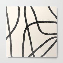 Thick Continuous Line Series 7 | Boho Home Decor, Modern Wall Art, Continuous Line Art, Contour Line Metal Print