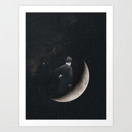 Moon Thinker Art Print