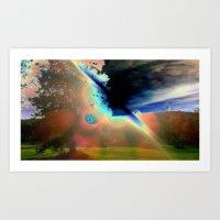 Solar Flare Art Print