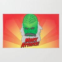 marx Area & Throw Rugs featuring Marx Attacks! by ericbennettart