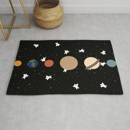 Planets: Solar System Rug