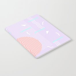 Memphis Summer Lavender Waves Notebook