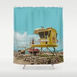 T7 Lifeguard Station Kapukaulua Beach Paia Maui Hawaii Shower Curtain