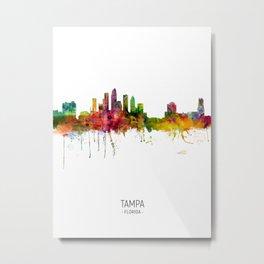 Tampa Florida Skyline Metal Print