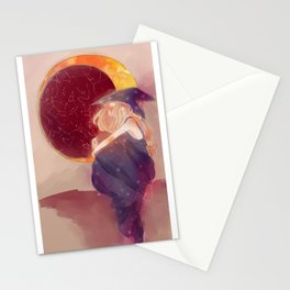 Moon lit Witch Stationery Cards