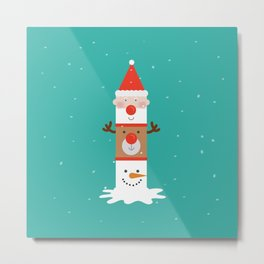 Day 11/25 Advent - Holiday Totem Metal Print