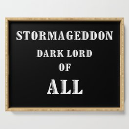 Doctor Who Stormageddon Dark Lord of All Serving Tray