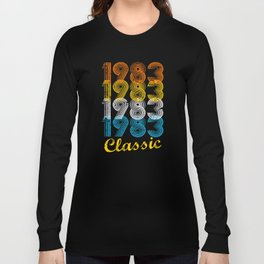 34th Birthday Gift Vintage 1983 T-Shirt for Men & Women T-shirts and Hoodies Long Sleeve T-shirt
