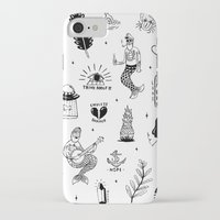 tattoos iPhone & iPod Cases featuring Flash Tattoos by Hamburger Hands