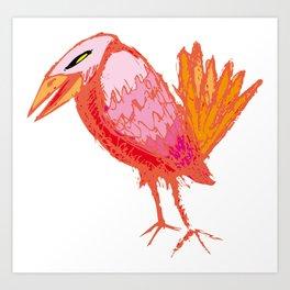 Red Crow Art Print