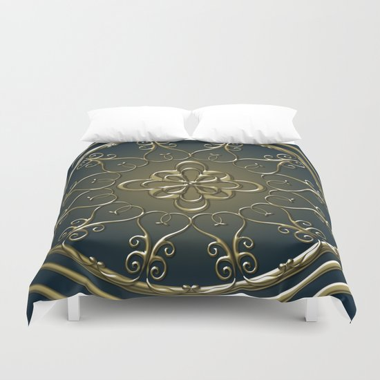 Golden Nemo Pattern Duvet Cover