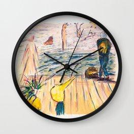 X voYages de Zed (toile 8 - série 1) Wall Clock