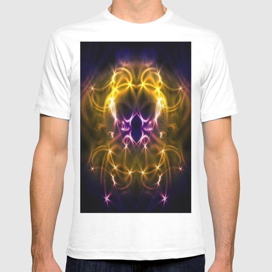 Golden abstract T-shirt