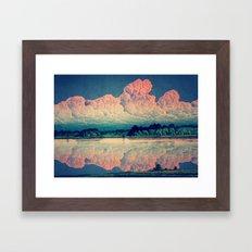 Admiring the Clouds in Kono Framed Art Print