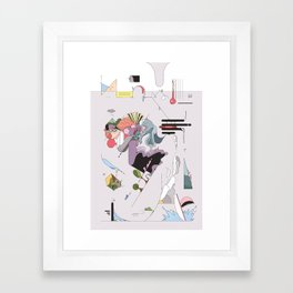 Cover for an imaginary magazine Framed Art Print