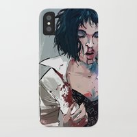 mia wallace iPhone & iPod Cases featuring Mia Wallace by Azahara Blue