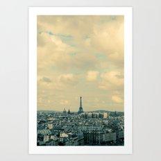 Paris In Blue Art Print