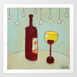 Evening Wine Art Print