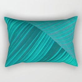 Banana Leaf Abstract Rectangular Pillow