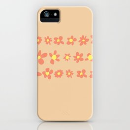 Daisy Chain in Oranges iPhone Case