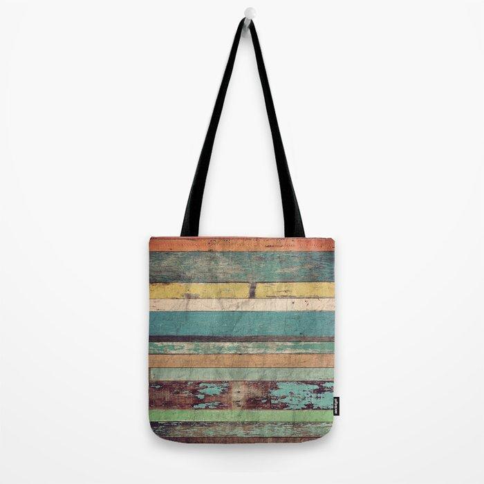 Wooden Vintage  Tote Bag