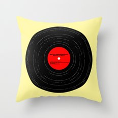 Born to Run Vinyl Throw Pillow