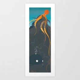 Attention !! une pieuvre !! Art Print