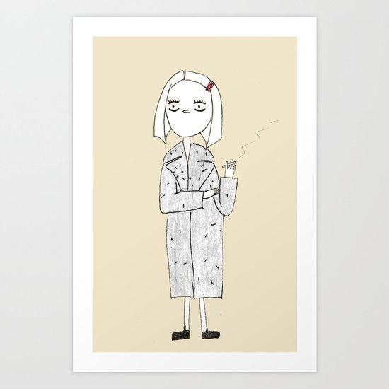 the royal tenenbaums - margot Art Print