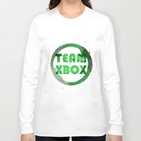 xbox Long Sleeve T-shirts featuring Team XBox by Bradley Bailey