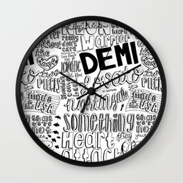 neon lights collage Wall Clock
