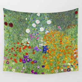 Flower Garden - Gustav Klimt Wall Tapestry