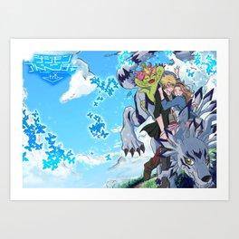 Digimon Tri Mimato Art Print