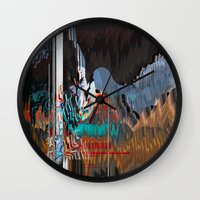reassurance Wall Clocks featuring The Swan Reassurance by Alix Rumble 2