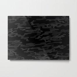 Black modern camouflage pattern. vector background illustration  Metal Print