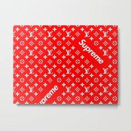 Supreme LV Red Metal Print