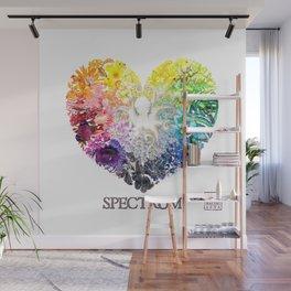 Spectrum Rainbow Heart Wall Mural