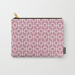 Puce Pink Lattice Pattern Carry-All Pouch