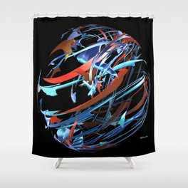 Red & Blue Ball Shower Curtain