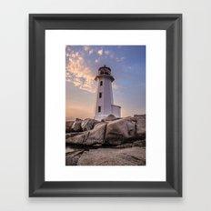 Peggy's Cove Lighthouse Framed Art Print