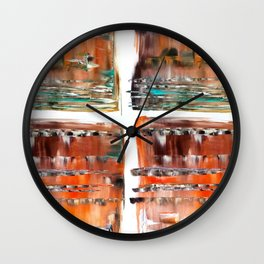 Autumn Cross Wall Clock