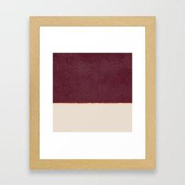 BURGUNDY NUDE GOLD MINIMALIST Framed Art Print