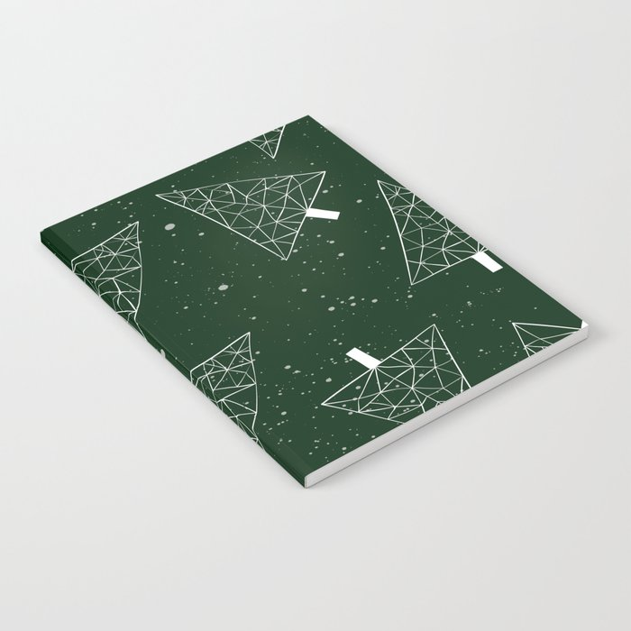 Christmas Trees Green Notebook
