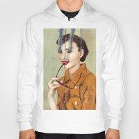 audrey hepburn Hoodies featuring Audrey Hepburn by FAMOUS WHEN DEAD