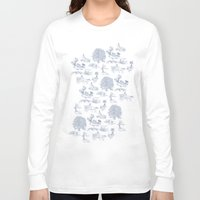 lotr Long Sleeve T-shirts featuring Shire Toile by Jackie Sullivan