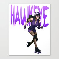 kate bishop Canvas Prints featuring Derby Kate by Tera Sidebottom