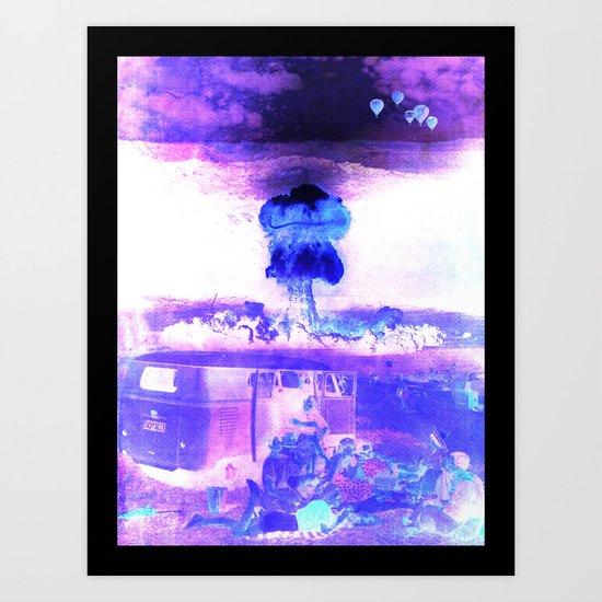 Obliviously blissful Art Print
