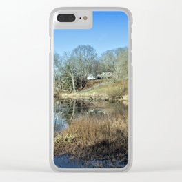 Pond in late autumn Clear iPhone Case